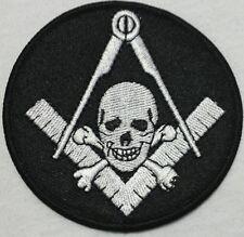 Freemason Masonic Black and Grey with skull Iron on Patch