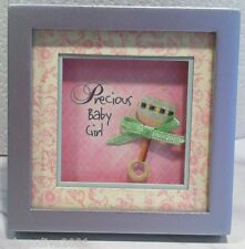 Little Blessings-Shadow Box Magnet by Ganz- 'Precious Baby Girl' - FREE Shipping