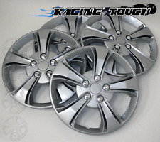 "Wheel Cover Replacement Hubcaps 14"" Inch Metallic Silver Hub Cap 4pcs Set #616"