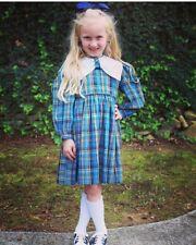 4t, Vintage 50's Little Girls Dress, Fall Plaid BEAUTIFUL