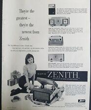 1958 zenith transistor pocket clock table vintage radio phonograph ad