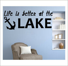 Life Is Better At the Lake-on Sale Vinyl Lake House Wall Decals