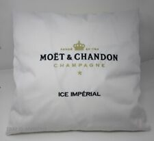 MOET CHANDON ICE IMPERIAL CHAMPAGNE INDOOR CUSHION PILLOW COVER WHITE (SET OF 4)