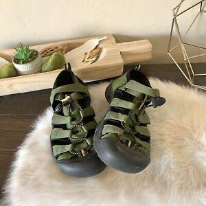 Keen Newport H2 Boys Sandals Youth Big Kids Size 5 Green