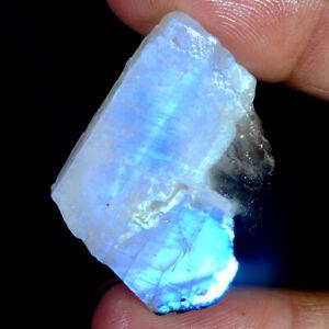 56.30 Cts Natural Azul Fuego Piedra Luna Especimen Rough Onza Cabujón Loose Gems