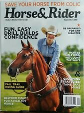 Horse & Rider Sept 2017 Fun Easy Drill Builds Confidence Trail FREE SHIPPING sb