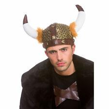 Viking Helmet Soft Plaits Fancy Dress Adult Accessory