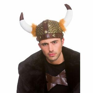 Authentic Viking Helmet Soft Adults Helmet Medieval Fancy Dress Accessory