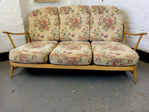 Original vintage ercol model 203 3 seater Sofa cushion covers ONLY , PLZ READ