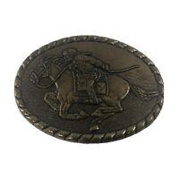Pony Express Rider Belt Buckle Mervyn's 1981 Commemorative