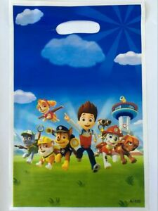 10 Paw Patrol Party Gift Bags Candy Favour Bag Loot Bag For Birthday