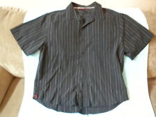 Men's Tony Hawk Black Pin Striped Casual Dress Shirt Size XXL Great Condition