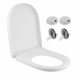 Soft Close Toilet Seat White Bathroom U Shape WC Heavy Duty Seats Quick Release