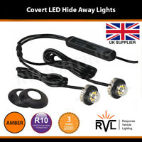 12v 24v Flashing LED HIDE AWAY LIGHTS, LightBar Recovery Strobe Beacons AMBER