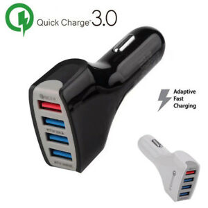 4 Port USB Car Charger Adapter Quick Charge 3.0 Fast Charging For iPhone Samsung