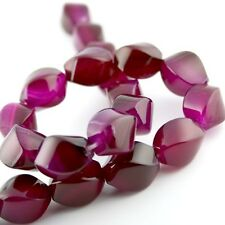 Pack of 6 – AAA Grade Natural Rose Agate Beads, Twist, gemstone beads