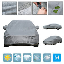 Waterproof Medium M 2 Layer Full Car Cover Breathable UV Protect Outdoor Indoor