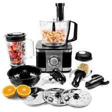 electriQ Black 1100W Food Processor Blender Chopper Mixer Juicer Grinder