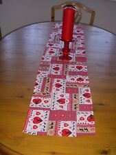 Christmas Table Runner 135cm x RED SCANDINAVIAN Decoration STRAIGHT ENDS