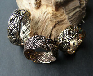 Bronze Ring Freundschaftsring Wikinger Keltik Flechtmuster geflochten Ausverkauf