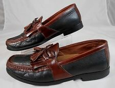 Johnston & Murphy K12 Mens Size 9 M Double Tassel Loafers Black and Cordovan  #2
