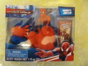 AMAZING SPIDER-MAN 2  TUB TIME FRIENDS SQUIRTS WATER BATH POUFS & BODY WASH