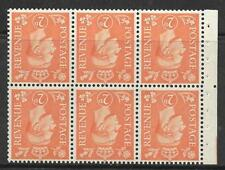 QB30a perf type Ie Mid - 2d Pale Orange Booklet pane wmk inverted UNMOUNTED MINT