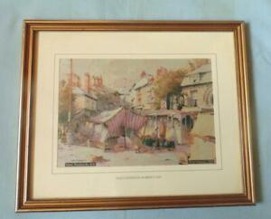 SILK PICTURE  BROCKLEHURST WHISTON OF MACCLESFIELD MARKET DAY