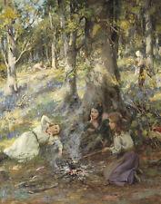 MacGeorge Stewart William Woodcutters Children Print 11 x 14 #4978