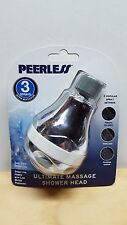 PEERLESS Water Saving Three Spray Ultimate Massage Shower Head - CHROME 76355