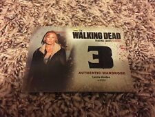The Walking Dead season 3 Part 2 M29 Wardrobe card of Laurie Holden as Andrea