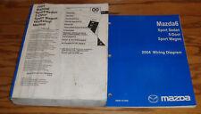 Original 2004 Mazda Mazda6 6 Shop Service Manual + Wiring Diagram Set 04