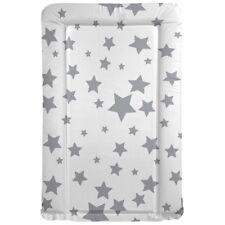 Kiddies World matelas à langer blanc motif étoiles grises 79 x 46 cm