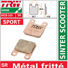 Plaquettes frein Avant Sport TRW MCB535SR Peugeot 50 Vivacity S1C 99-09
