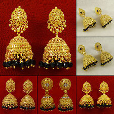 Indian 18K Goldplated Jhumka Earring Set Women Designer Jewerly BSE6984A-PAR