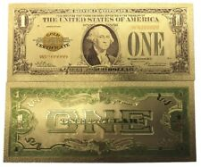 USA $1 ONE US DOLLAR 1928 GOLD CERTIFICATE COLOURED BANKNOTE GOLD 24K NEW MINT