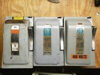 1- ITE- F352 60 Amp 600 Volt 3 Pole NEMA 1 Fusible Disconnect 480 V (C#4)