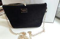 Chanel Beauty Flannel Makeup Trousse Bag Pouch Clutch Black Velvet Large