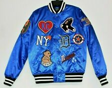 Stall & Dean First on the Field Royal Blue Baseball Patch Varsity Jacket Medium