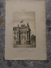 1862 Litografía Malaga La Andalucia Arco del Muelle erigido Circulo Malagueño