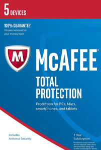 McAfee Total Protection 2021 - 5 PC / Geräte / 1 Jahr Vollversion