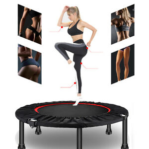 """48"""" Fitness Trampoline Efficient Indoor Workout Exercise with Adjustable Handle"""