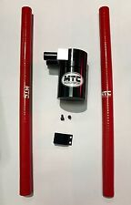 MTC MOTORSPORT Oil Catch Can Tank Billet Acier Réservoir Universel 18 mm rouge VXR