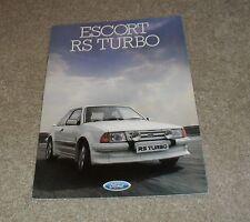 Ford Escort RS Turbo Brochure 1985 Rare RST Mk1