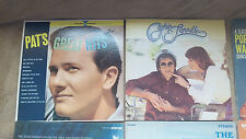 1 Lot of 4 LP Vinyl   Pat Boone,Captain & Tennile,Gene Pitney,Righteous Brothers