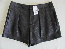 Helmut Lang New York Shorts-Shy Fabric in Old Silver- Pleated -Size 6 - NWT $255