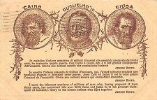 1397) WW1, ANTI TEDESCA, CAINO, GUGLIELMO 2, GIUDA. VIAGGIATA.