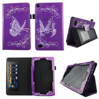 Flower Purplish Fit for Kindle Fire 7 inch 2015 Tablet Case Cover ID Slot