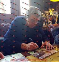 Dino Zoff Autografo Sport Calcio Nazionale Italiana Mondiali 1982 Signed Photo