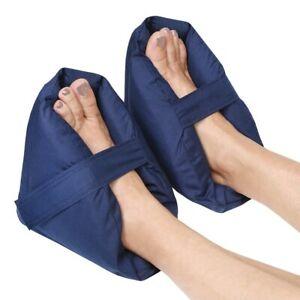 Plush Foot Pillows - Heel Protectors Cushions Pain Relief - 1 Pair - Navy